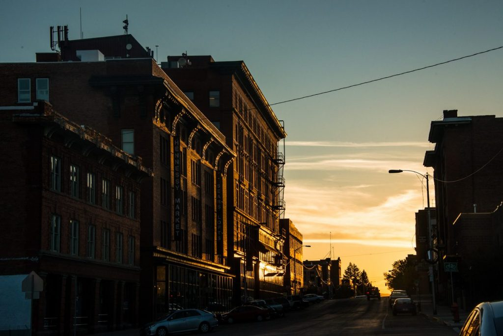 butte-montana-granite-street-sunrise